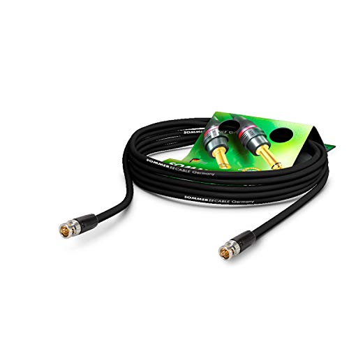 SOMMER CABLE - Koaxiales Videokabel mit BNC 75 Ω - HD/3G/6G/12G-SDI / 4K-UHD SC-Vector 0.8/3.7 - BNC/BNC NBNC75BLP9X Neutrik - Schwarz (20m) - Made in Germany by