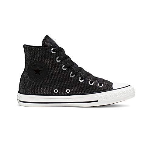 Converse women's Ctas Hi White/Black Sneaker, 10.5 M US