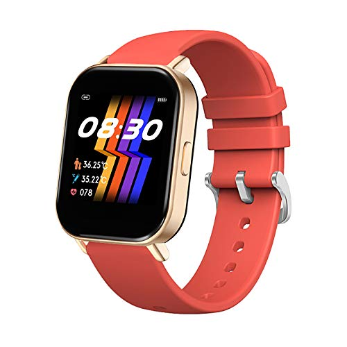 Hogoton Smart Watch,Fitness Watch withActivity Tracker with Heart Rate Sleep Monitor, IP67 Waterproof 1.4-inch Color Touch Screen Activity Tracking pedometersuitable for Android and iOS (Red)