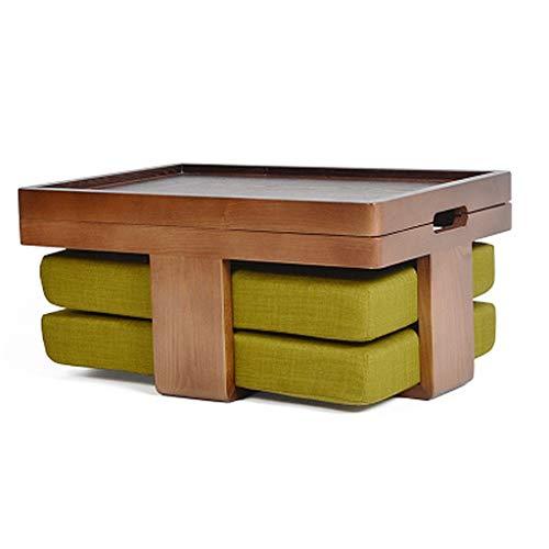 FFF8 Kleiner Tisch Couchtisch Beistelltisch Massivholz Japanischer Teetisch Tatami Plattform Niedriger Tisch Kreativer Balkon Bucht Fenster Tisch Kleiner Tisch Set Mit Kissen