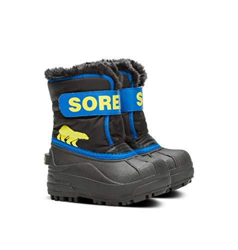 Sorel Unisex-Kinder-Winterstiefel, TODDLER SNOW COMMANDER, Schwarz (Black/Super Blue), Größe: 21