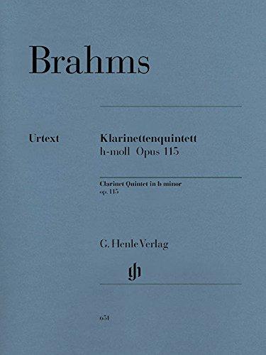 Klarinettenquintett h-moll op. 115. Klarinette, 2 Violinen, Viola, Violoncello