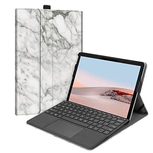 FINTIE Case for New Microsoft Surface Go - Multiple Angle Viewing Portfolio Business Cover for Microsoft Surface Go 10-inch Tablet 2018 Release, Compatible with Type Cover Keyboard, Marble White