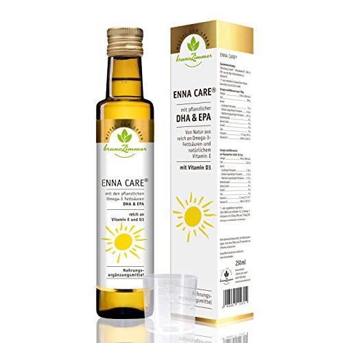 ENNA Care® Ölmischung mit VITAMIN D3, DHA + EPA - 250 ml MZL - (Leinöl bio, Weizenkeimöl, Vitamin D3, DHA, EPA)
