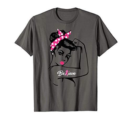 Breast Cancer Warrior TShirt Awareness Tee Support Believe T-Shirt