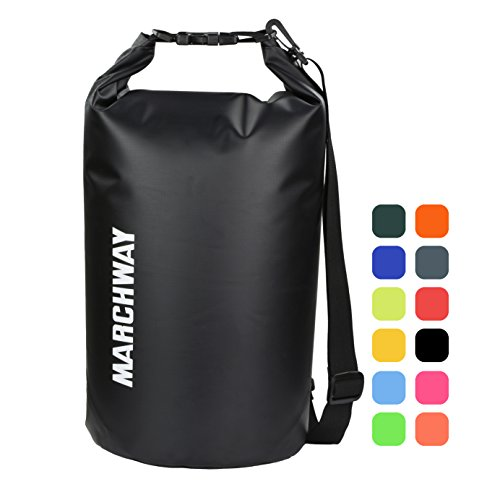 MARCHWAY Floating Waterproof Dry Bag 5L/10L/20L/30L/40L, Roll Top Sack Keeps Gear Dry for Kayaking, Rafting, Boating,...