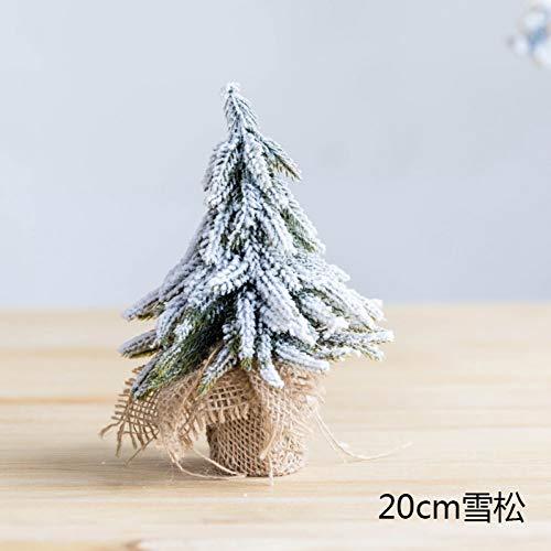 JWDLH Sneeuwspray bevlokking ceder mini-kerstboom teller raam desktop decoratie ornamenten A1.
