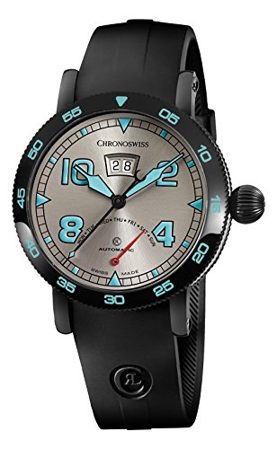 Chronoswiss Retrograde Day automatico Swiss Made orologio uomo quadrante...