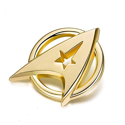 Kapitän Kirk Kapitän Kommunikator Gold Cosplay Metall Button Badge Pin Brosche Abzeichen