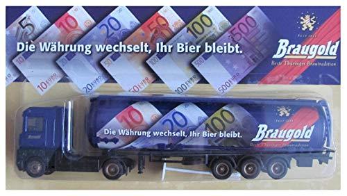 Braugold Nr.12 - Die Währung wechselt, Ihr Bier bleibt - Renault Magnum AE - Sattelzug mit Tankauflieger