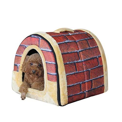 YUMUO ? Pet House Dog House, großer Bogen Typ Klappbares Hundebett Klappbares Haustierbett Weiches Katzenkissen Geeignet für alle Jahreszeiten (Farbe: D, Größe: XXXL)