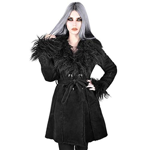 Killstar Kunstfell Shearling Mantel - Belladonna XL