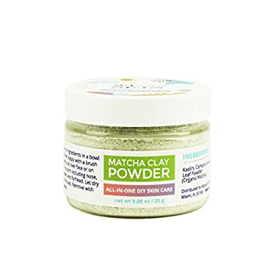 23 SKIN Matcha Green Tea Powder Face Mask with Kaolin Clay - Organic Anti-Aging Antioxidants + DIY Facial Scrub and Pore Cleanser - Absorb Oils and Impurities - 0.88 oz