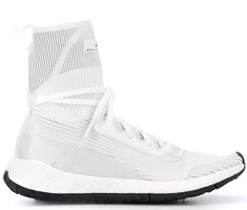 adidas x Stella McCartney Women's PulseBOOST HD Mid Limited Edition Collaboration Sneakers (8.5, White)