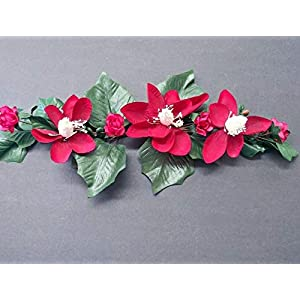 """Silk Flower Arrangements Cute Little Mini Magnolia Swag. Silk Flower Arrangements. 17"""" Long and About 6"""" Wide - Artificial Flowers #FWB01YN"""