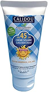 CALIDOU® Mineral Sunscreen SPF45 | 100% Natural for Baby, Kids & Adults | UVA UVB Broad Spectrum Protection | Organic Ingr...