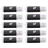 Fransande - 10 memorias USB 2.0 de 128 MB, color negro