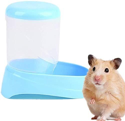 YYhkeby Mascota hámster alimentador Alimentación Alimentación Dispensadores Cuencos Triturador hámster alimentador de Animales Pequeños Conejo Fuente alimentaria Hamster Jaula Recipiente Azul Jialele