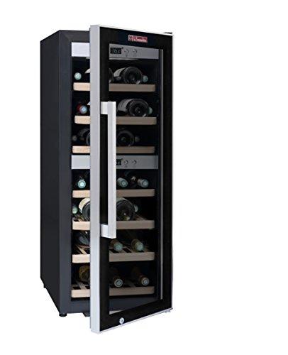 Weinkeller La Sommelière ECS40.2Z von FRIO | 38 Flaschen - Zwei Temperaturzonen | Kleine Stellfläche