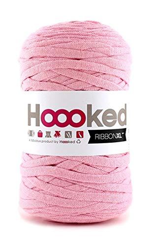 Trapillo pluma Ribbon XL Hoooked baby pink