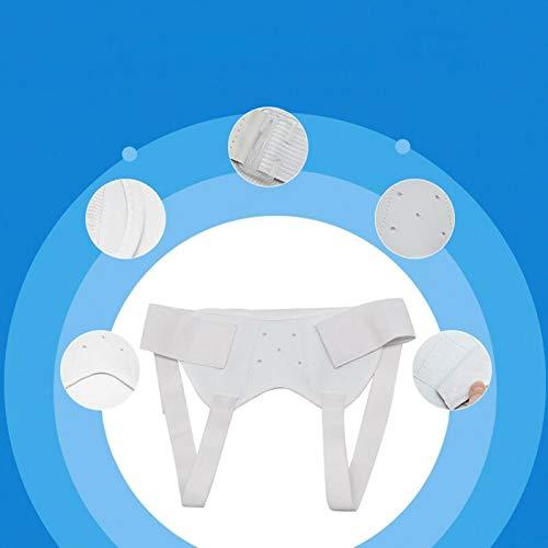 Lackingone - Cintura per ernia inguinale unisex, con cuscinetti rimovibili