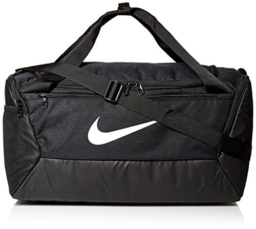 Nike Unisex-Adult Nk Brsla S Duff - 9.0 (41l) Luggage- Messenger Bag, Black/Black/White, MISC