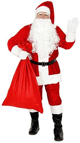 Foxxeo Costume da Babbo Natale per Uomini - Taglia: M-L - Costume da Babbo Natale