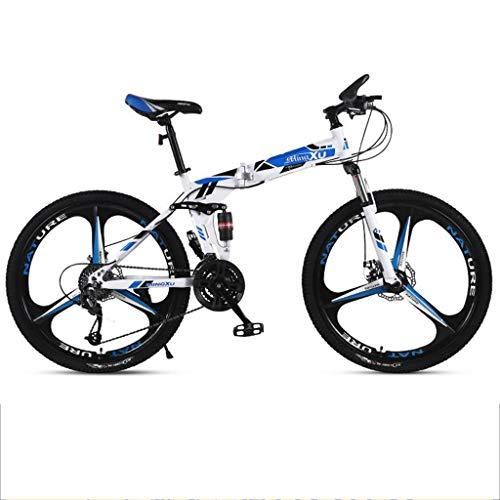 Mountainbike Bici Bicicletta MTB 26inch Mountain bike, pieghevole acciaio al carbonio Biciclette Frame, Full Suspension e Dual freno a disco, 21 velocità, 24 velocità, 27-velocità MTB Mountain Bike