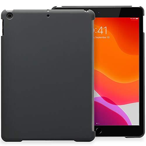 KHOMO Rückseite iPad 10.2 (2020, 2019) iPad 8, iPad 7 Schutz Abdeckung Case Hülle Kompatibel mit Smart Cover, Tastatur - Dunkelgrau