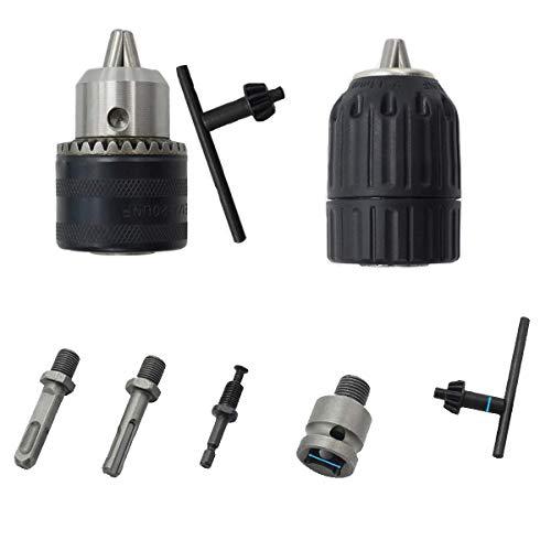 Adaptador de enchufe de alta resistencia, vástago hexagonal y SDS-Plus de 1/4...