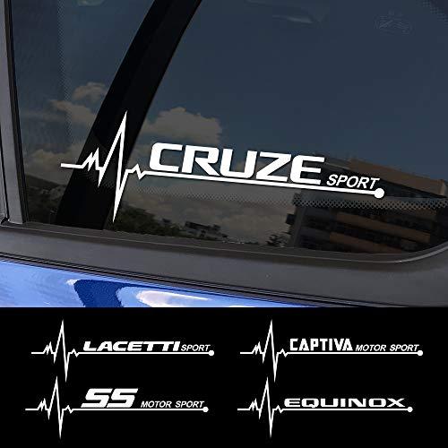 FSXTLLL Auto Fenster Aufkleber Autoaufkleber Sticker, für Chevrolet Lacetti Cruze Captiva Equinox Trax Impala Camaro Z71 Sonic Spark Sail Aveo SS Malibu