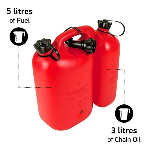 Oregon 562407 Economic Combi-Can, 5+3 litres, Red