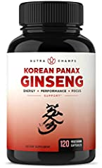 Rev Up Your Energy - Looking for a natural boost? NutraChamps Korean Ginseng brings a steady burst of energy to your day without the jitters, helping you naturally increase productivity, stay energized and focused, and get things done. Traditional Ko...