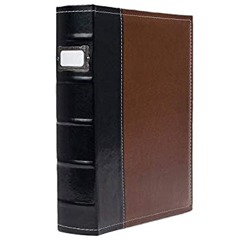 Bellagio-Italia 3 Ring Binder 1 Inch Rings Brown - Faux Leather Presentation Binder for Business Resumes File Storage - 1 Inch Binder Stores up to 225 Sheets Brown 1-Pack  30305