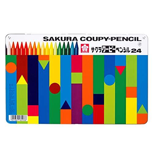 Sakura Color 24 Color Kupi Pencil (Canned) FY24 (Japan Import)