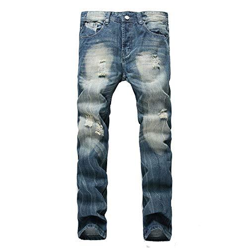 Yzibei warme jeans slim fit jeans, jong uitziende modieus, super comfortabele stretch skinny fit denim ripped slim fit jeans vrijetijdsbroek voor heren