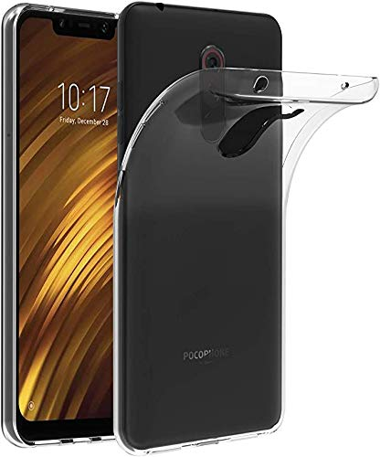 PHONE CONVERSE Funda TPU Xiaomi POCOPHONE F1 Fina Carcasa Transparente Silicona Resistente Anti-Arañazos para Xiaomi POCOPHONE F1