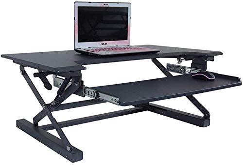 Computer werkstation lente hoogte verstelbare staande bureau converter met toetsenbord lade tablet houder tabel desktop