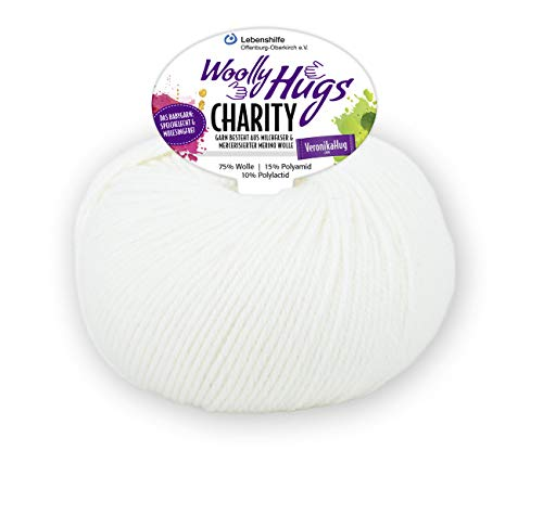 PRO LANA Charity Woolly Hug´S - Farbe: Weiss (01) - 50 g/ca. 100 m Wolle
