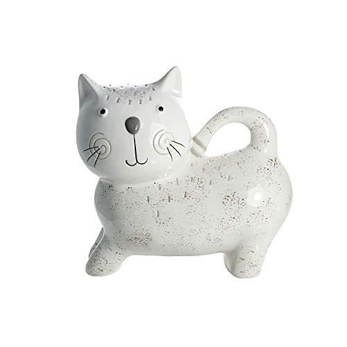 SPOTTED DOG GIFT COMPANY Katze Spardose Keramik Weiß - Katze Geschenk für Kinder und Erwachsene Mädchen Frau und Jungen Katzenliebhaber