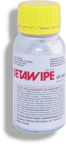 Betawipe VP 04604 | 100 ml | Dow Automotive | Aktivator Oberflächenaktivator Grundierung Glas Keramik | Vorbehandlung von Klebeflächen vor dem Auftragen von Glasprimer (z.B. Betaprime oder Betaseal)
