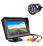 Carzex 4.3 Dashboard TFT LCD Screen Rear View Monitor with 8 LED Night Vision Car Reverse Camera