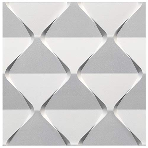 3D Wandpaneel - effektvolle Wandgestaltung mit detaillierten Polystyrolplatten, EPS deutliche Musterung, leicht und stabil - 1 Platte 60x60cm Harmony