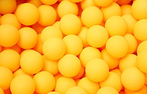 Demarkt 50x Tischtennis Bälle Ping Pong Bälle Tischtennisbälle ohne Aufdruck 40mm Orange