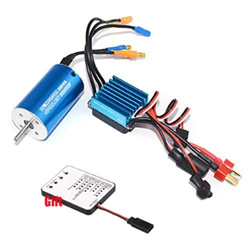 jinclonder Sensorloser bürstenloser Motor RC 2430/2435/2838 4500KV / 7200KV / 4800KV / 4370/3930/3800 / 3100KV mit bürstenlosem ESC 25A, 35A für PKW/LKW 1/16 1/18 RC-Steuerung