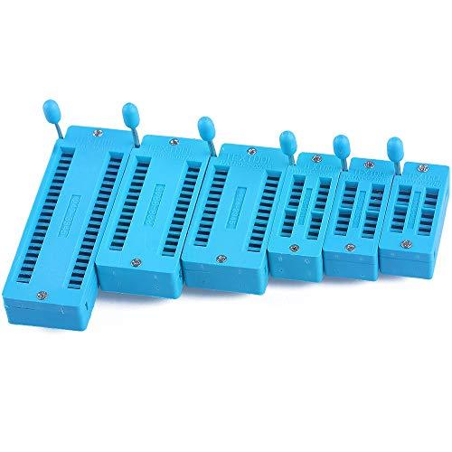 Binchil 6 Stueck Universal 14/16/18/24/28/40 Pin Ic Test Universal ZIF Sockel Heiss Hause Decoration