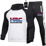 Hickeyy Hombres Jogging Chándal Ho.N-Da.s HRC Dos Piezas Raglán Sudadera con Capucha + Pantalones Casual/C/M sponyborty