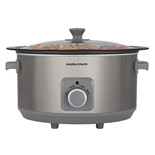 Morphy Richards 461014 Sear & Stew 6.5 Litre Aluminium Slow Cooker, One-Pot...