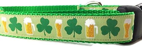 St Patricks 55% OFF Dog Collar Shamrock Beer Caninedesign New product! New type Leprechaun