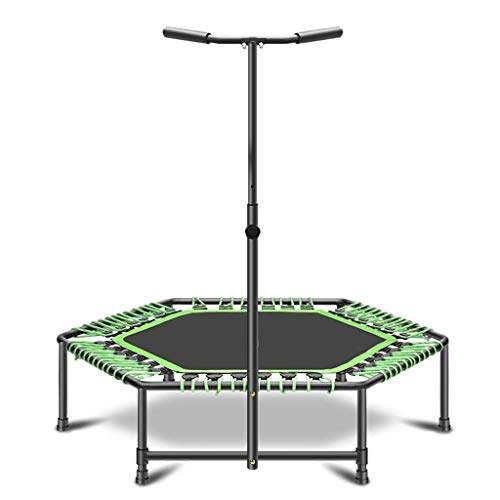 YLKCU 40' Foldable Small Trampoline, Fitness Trampolines, Trampette Exercise Rebounder For Kids Adults Toddler, Home Gym Equipment Indoor/Garden Workout Max 300 Ibs (Color : Blue-40 inches)